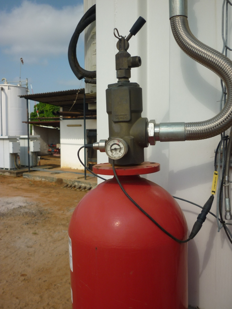 July 2017 - Congo DRC: Contract of 70K € for the supply of a fire-resistant gas cylinder FM200